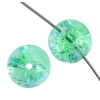 Glass Bead Cracked 10mm Round Turquoise